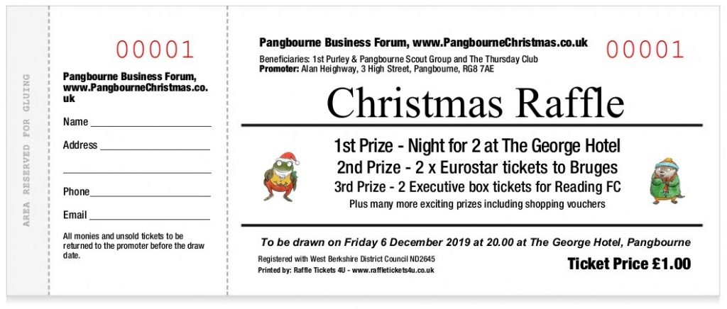 Pangbourne at Christmas raffle ticket